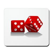 Las Vegas Red Dice Mousepad