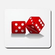 Las Vegas Red Dice Mousepad