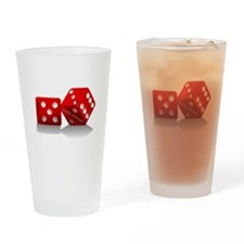 Las Vegas Red Dice Drinking Glass