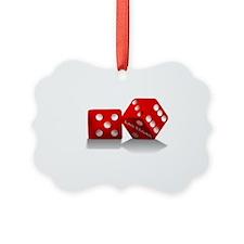 Las Vegas Red Dice Ornament