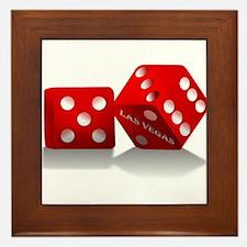 Las Vegas Red Dice Framed Tile