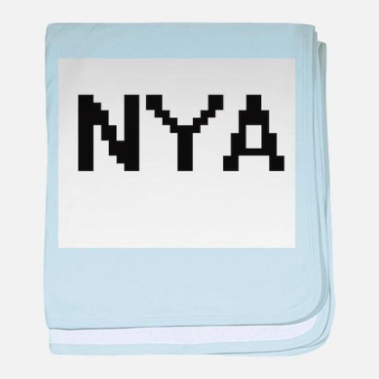 Nya Digital Name baby blanket