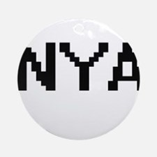 Nya Digital Name Ornament (Round)