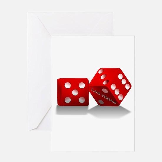 Las Vegas Red Dice Greeting Cards