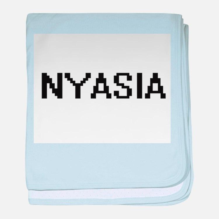 Nyasia Digital Name baby blanket
