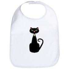 Black Cat Pearl Collar Bib
