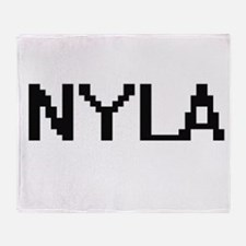 Nyla Digital Name Throw Blanket