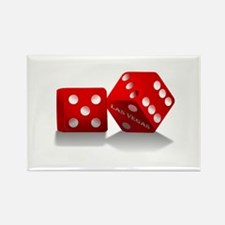 Las Vegas Red Dice Magnets