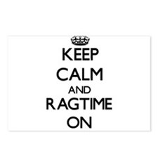 Keep Calm and Ragtime ON Postcards (Package of 8)