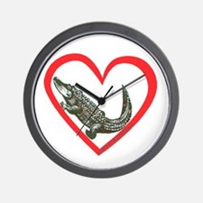Alligator Heart Wall Clock