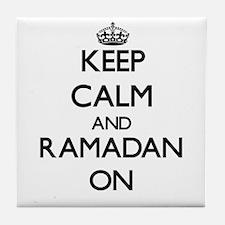 Keep Calm and Ramadan ON Tile Coaster