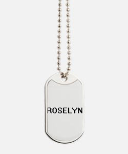Roselyn Digital Name Dog Tags