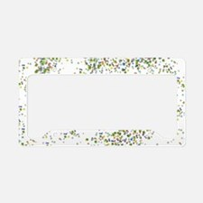 Green and More Beads License Plate Holder
