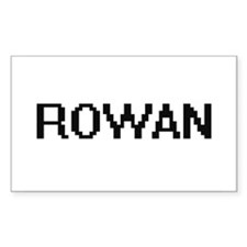 Rowan Digital Name Decal