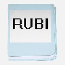 Rubi Digital Name baby blanket