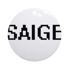 Saige Digital Name Ornament (Round)