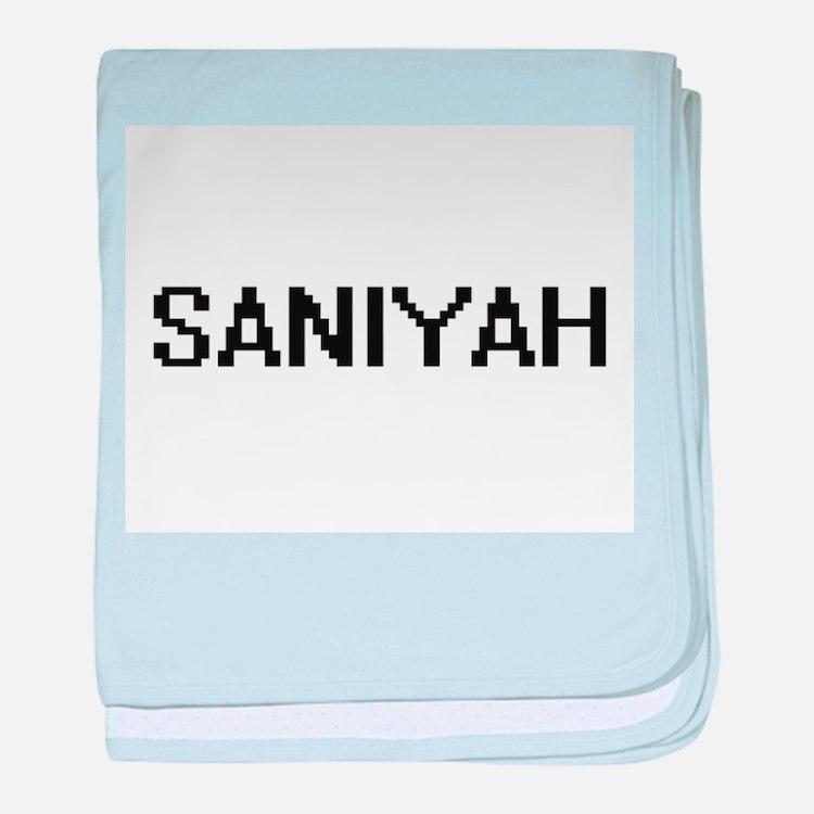 Saniyah Digital Name baby blanket