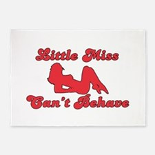 LITTLE MISS CAN'T BEHAVE 5'x7'Area Rug