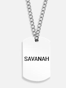 Savanah Digital Name Dog Tags