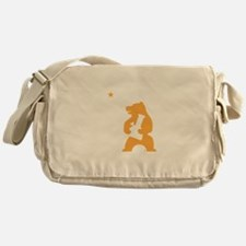 California Smoking Bear Messenger Bag
