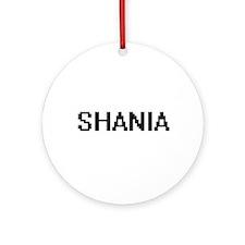 Shania Digital Name Ornament (Round)
