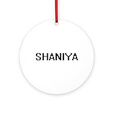 Shaniya Digital Name Ornament (Round)