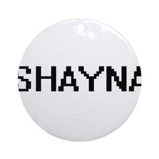Shayna Digital Name Ornament (Round)