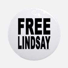 Free Lindsay #1 Ornament (Round)