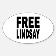 Free Lindsay #1 Oval Decal