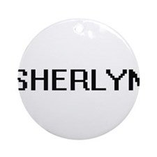 Sherlyn Digital Name Ornament (Round)
