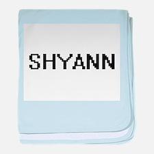 Shyann Digital Name baby blanket