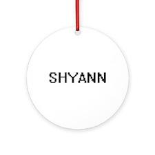 Shyann Digital Name Ornament (Round)