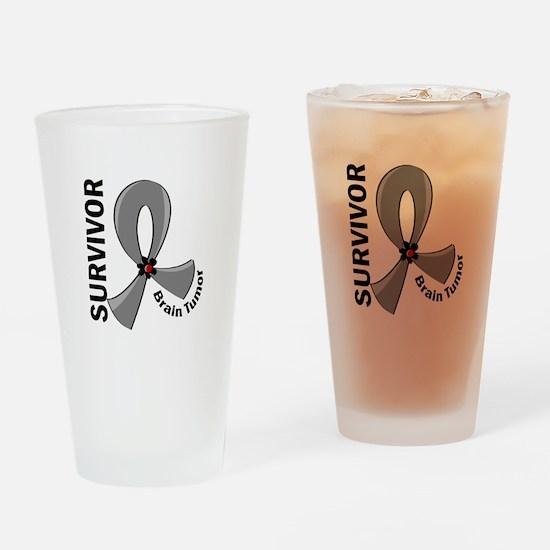 Brain Tumor Survivor 12 Drinking Glass