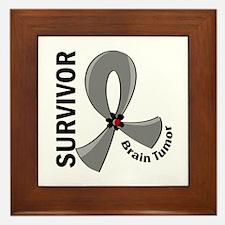 Brain Tumor Survivor 12 Framed Tile