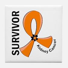 Kidney Cancer Survivor 12 (Orange) Tile Coaster