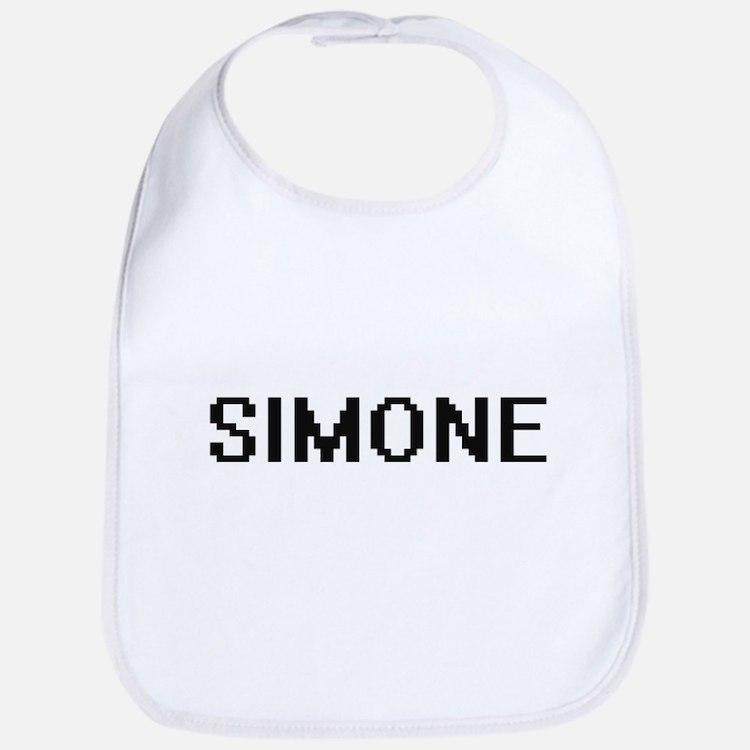 Simone Digital Name Bib