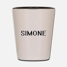 Simone Digital Name Shot Glass