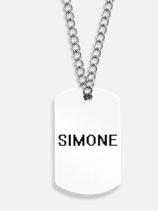 Simone Digital Name Dog Tags
