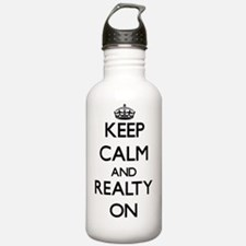 Keep Calm and Realty O Water Bottle