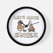 Lets Make SMORES! Wall Clock