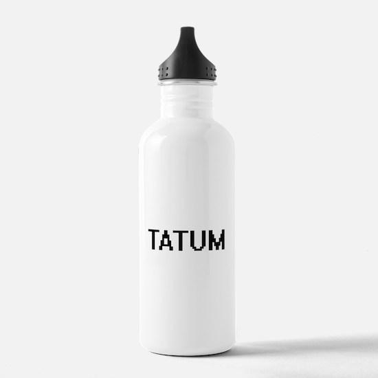 Tatum Digital Name Water Bottle