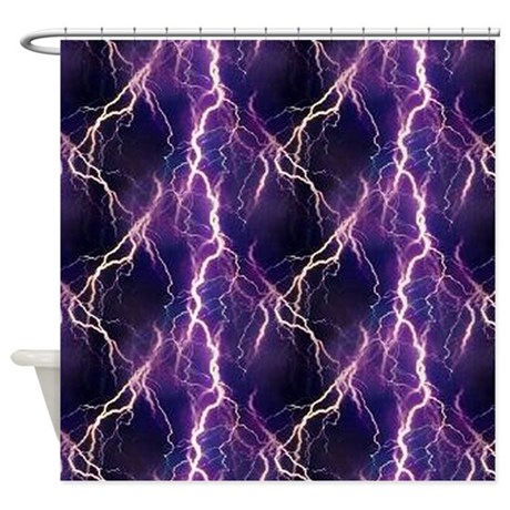 Lightning Pattern Shower Curtain By CutePrints