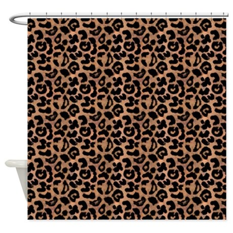 Leopard Print Pattern Shower Curtain By CutePrints