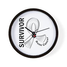 Bone Cancer Survivor 12 Wall Clock