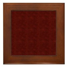 Leather Pattern Framed Tile