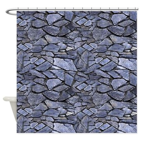 Stone Wall Pattern Shower Curtain By CutePrints