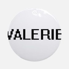 Valerie Digital Name Ornament (Round)