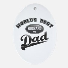Best Husband/Dad Ornament (Oval)