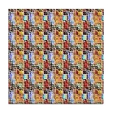 Small Squares Pattern Tile Coaster