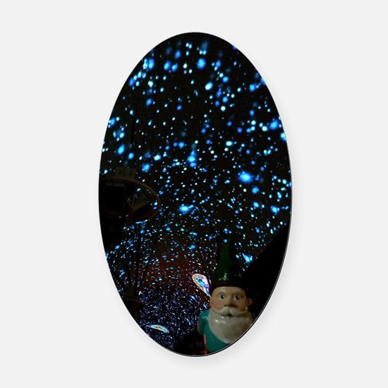 Night Gnome Oval Car Magnet